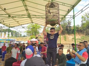 Ketua DPRD Madina di kontes burung