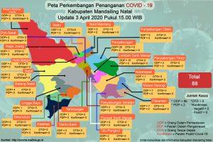 Peta hari ini terkait Covid -19